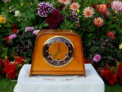 Smiths Antique Art Deco Westminster Chime Mantel Clock, 1955.