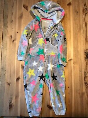 Marks And Spencer Kids Fleece All In One Bodysuit Size Age 3-4 Years Eur 104.