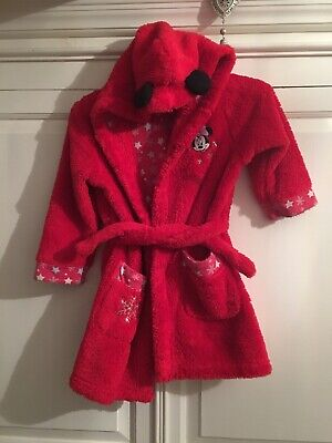 Girls Minnie Mouse Fleece Dressing Gown 3-4 Years