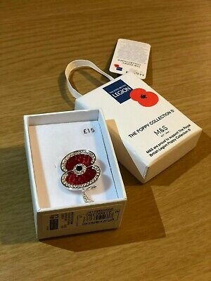 M&S The Poppy Collection Brooches