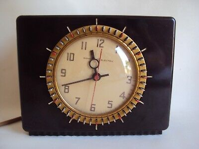 Vintage General Electric Convex Glass Table Alarm Clock Working