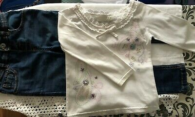 Girls 4-5 years jeans and long sleeved top outfit