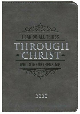 I Can Do All Things Through Christ, 2020 Executive Christian Planner with Zipper