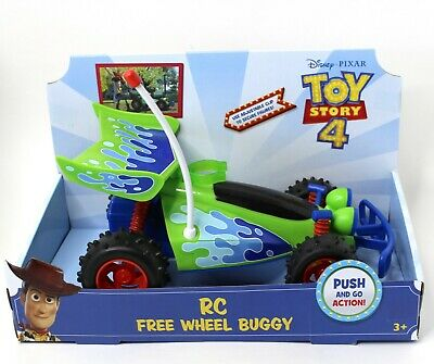 Disney Pixar Toy Story 4 RC Free Wheel Buggy Kid Child Car Push & Go Toy