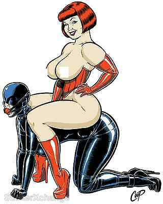 Top N Bottom STICKER Dominatrix Decal Poster Artist Coop CP43 LARGE SIZE