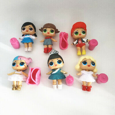 LOL Surprise Girls Dolls w/Accessory for Kids Party Toys 6 pcs Figures Gift Sets