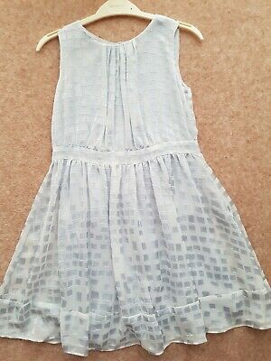 Jigsaw Junior Dress Duck Egg Blue Age 8-9 Years Lined Worn Once