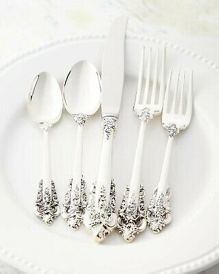 Sterling silver silverware set antique