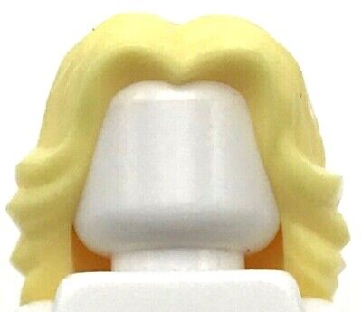 HAIR Lego F013 Female Bright Light Yellow Mid Length Part over Right Shoulder