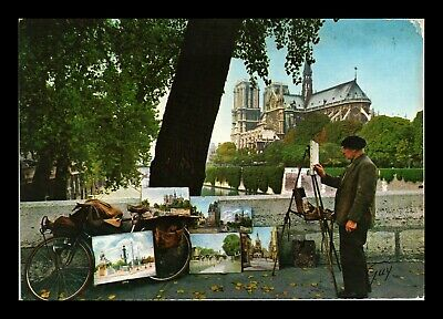 Dr Jim Stamps Notre Dame Cathedral View Continental Size Postcard Paris France