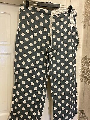 Ladies Next Grey White Pyjama Bottoms Size 22