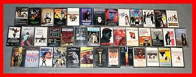 LOT of 40 MOVIE SOUNDTRACK Cassette Tapes 1980s 90s ROCKY Footloose GUMP + MORE!