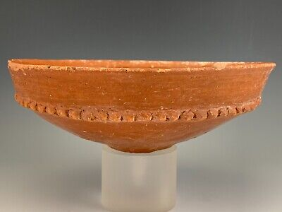 Ancient Holy Land Terra-Cotta Decorated Bowl; Bronze Age, 2500 B.c. Large!