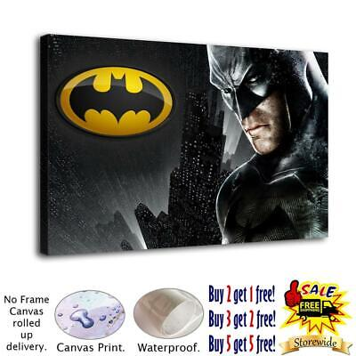 """12""""x20""""Batman Poster Home Decor room HD Canvas Print Picture Wall Art Painting"""