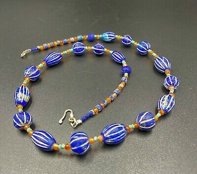 A special ancient necklace of mixed Lapiz