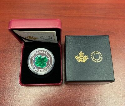 Fine Silver Four Leaf Clover Royal Canadian Mint Coin W/ Box And Certificate