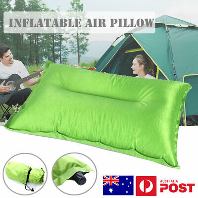 AU Camping Pillow Inflatable Air Pillow Portable Outdoor Travel Cushion Folding
