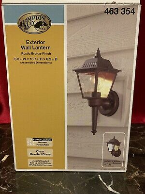 2 PACK Hampton Bay Exterior LED Wall Lantern Rustic Bronze 1001 376 142 NEW!