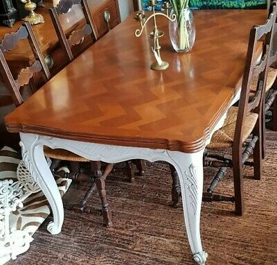 $200 off. Antique Table Dining Kitchen France French Draw Leaf Extension Louis