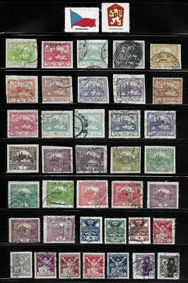 Collection of Old Stamps from Czechoslovakia . . . . . . . . (5 pages)