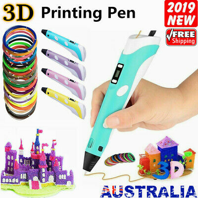 3D Stereoscopic Doodler Printing Drawing Pen LCD Art Tool + 10 Filaments Gift AU