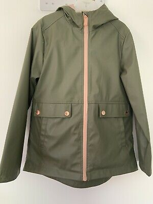 Michael Kors Girls Rain Coat Green Age 10/12