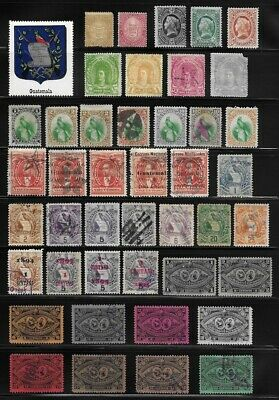 Strong Collection of Old Stamps - GUATEMALA  . . . . . . . (6 pages)