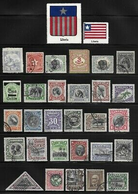 Huge Collection of Stamps from LIBERIA . . . . . . 15 pages!