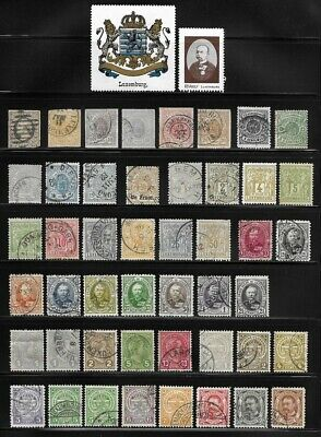 Collection of Old Stamps - LUXEMBOURG . . . . . (4 pages)