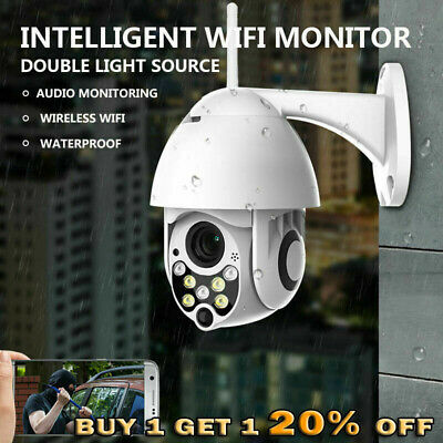 1080P Wireless Wifi IP Camera Dome PTZ Outdoor CCTV Home Security 2MP Ring Lot
