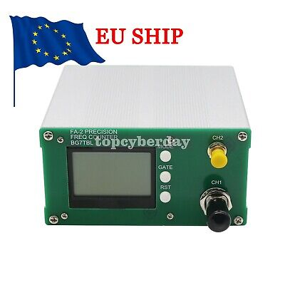 High Precision Frequency Counter Meter Kit 1Hz-6GHz with EU Plug Adapter #DE