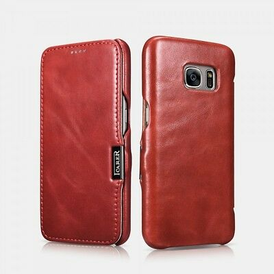 Samsung Galaxy S7 Leather Case Luxury Vintage Red