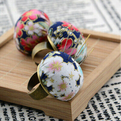 1PC Cute Ball Shaped DIY Craft Needle Pin Cushion Holder Sewing Kit Pincushi IO