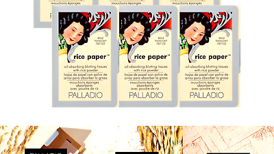 Palladio Rice Paper Tissues Translucent 40 Sheets (Pack of 6) Face Blotting S...