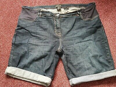 Next Maternity Denim Shorts Size 20