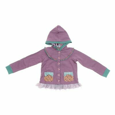 Matilda Jane Girls Hoodie size 8,  purple,  cotton, spandex,  new with tags