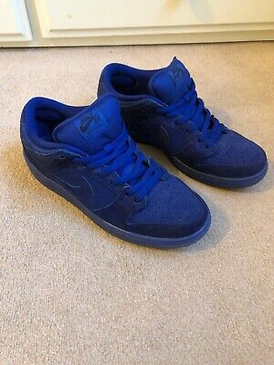 RARE NIKE SB Zoom Air Dunk Low Pro Trainers Blue Size 9.5 UK