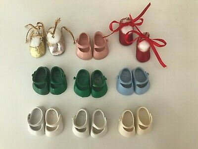 Vintage Ginny Vogue Doll Shoes--9 Pairs--White Green Blue Pink More
