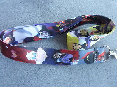 Disney Villians Ursula Maleficent Scar Jafar ID Holder Keys Neck Strap Lanyard