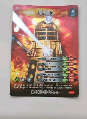 Doctor Who Battles In Time Special  Trading Card Exterminator ( Dalek)