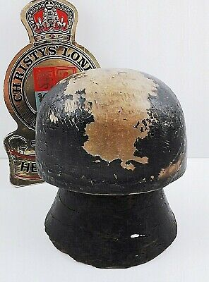 Unusual Victorian Wooden Hat Block with Stand Displays Well Period Millinery