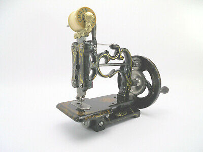 Antique Early Charles Raymond 'New England' Rare Miniature Sewing Machine c1860s