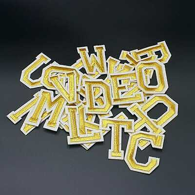 Letter Sequined Embroidered Patches Sew on Badge Sticker clothesappliqueHG What