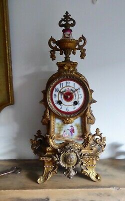 Vintage / Antique - 1876 French 8-Day Chiming Clock