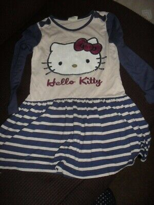 Girls Long Sleeved Hello Kitty Dress Age 6 Years Fro Tu - Used