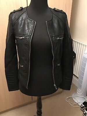 Girls/ Ladies M&S LIMITED EDITION Soft Faux LEATHER Jacket Black Size 6