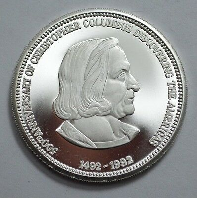 Christopher Columbus 500th anniversary PAMP Suisse rounds .999 fine silver 1 oz