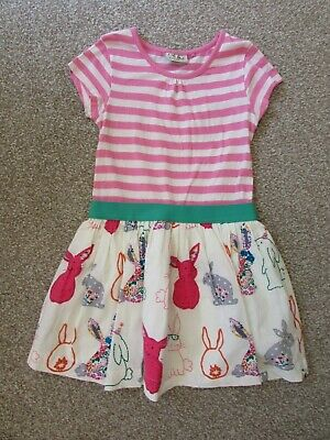 Next girls 6 years cute bunny rabbits summer holiday dress - Very good condition