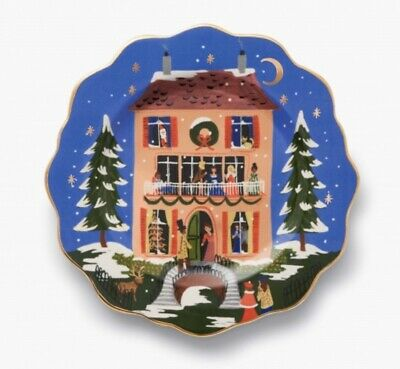 Anthropologie Rifle Paper Co Nutcracker House Christmas Dessert Plate NEW 2019