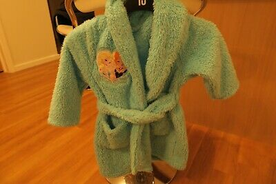 Frozen Blue Sparkly Girls Dressing Gown Age 3/4 Years